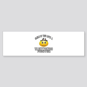 Taekwondo Fighter Designs Sticker (Bumper)