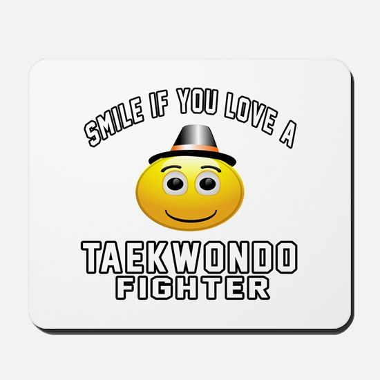 Taekwondo Fighter Designs Mousepad
