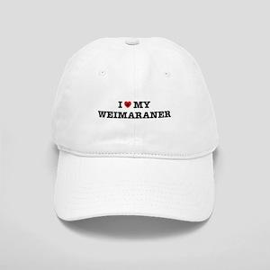 I Heart My Weimaraner Cap