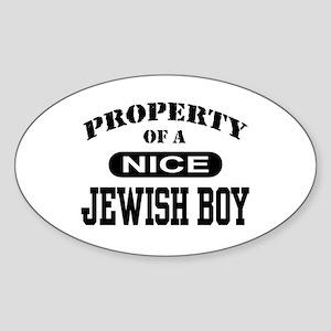 Property of a Nice Jewish Boy Oval Sticker
