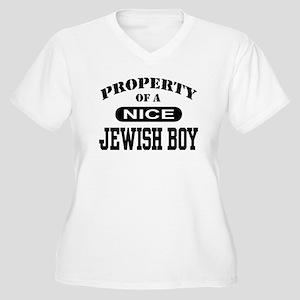 81bd654370f Property of a Nice Jewish Boy Women s Plus Size V-