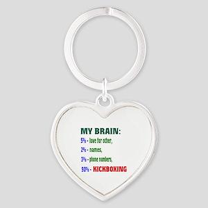 My Brain, 90% Kickboxing Heart Keychain