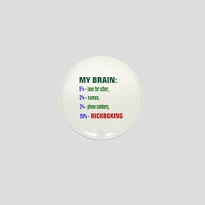My Brain, 90% Kickboxing Mini Button