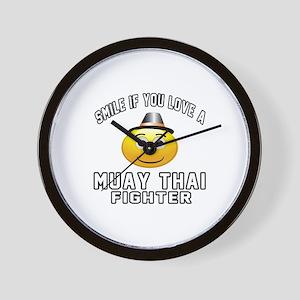 Muay Thai Fighter Designs Wall Clock