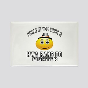 Hwa Rang Do Fighter Designs Rectangle Magnet