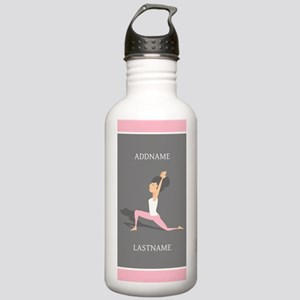 Pink and Gray Yoga Per Stainless Water Bottle 1.0L
