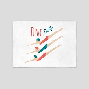 Dive Deep 5'x7'Area Rug