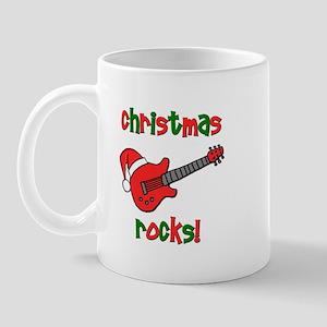 Christmas Rocks! Guitar Santa Mug