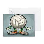 VolleyballYardSign Greeting Cards