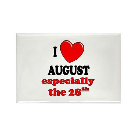 August 28th Rectangle Magnet (100 pack)