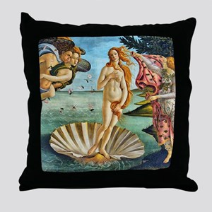 The Birth of Venus - Botticelli Throw Pillow