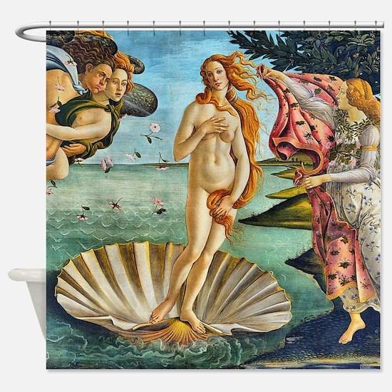 The Birth of Venus - Botticelli Shower Curtain