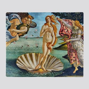 The Birth of Venus - Botticelli Throw Blanket