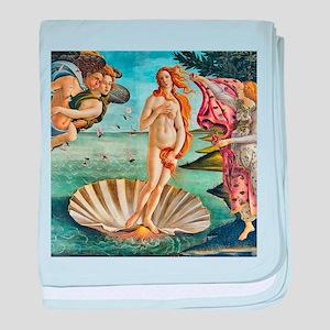 The Birth of Venus - Botticelli baby blanket