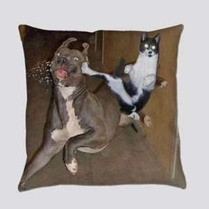 Funny Kung Fu Kitty Everyday Pillow