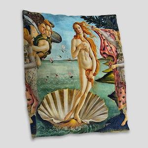 The Birth of Venus - Botticelli Burlap Throw Pillo