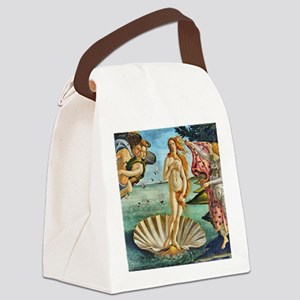 The Birth of Venus - Botticelli Canvas Lunch Bag