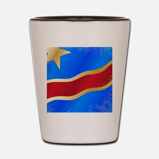 Democratic republic of congo Shot Glass