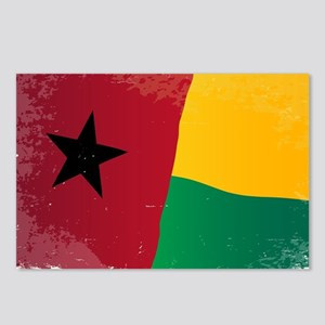 Guinea Bissau Flag Grunge Postcards (Package of 8)