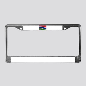 Gambia Flag Grunge License Plate Frame