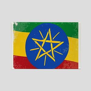 Ethiopia Flag Grunge Magnets
