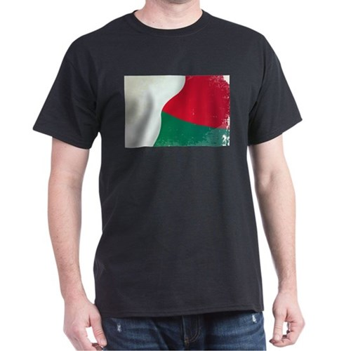 Madagascar Flag Grunge T-Shirt