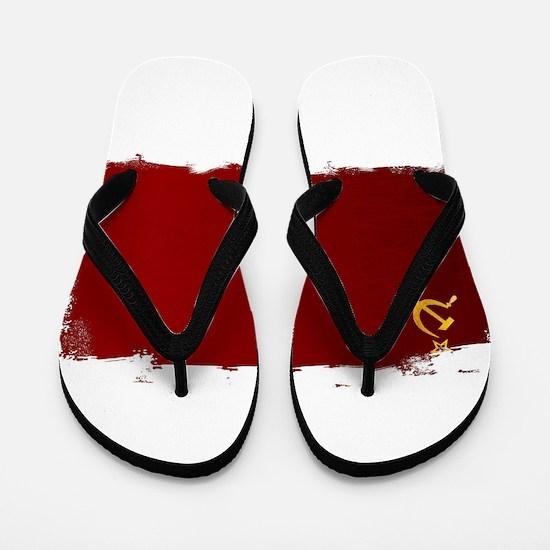 USSR Flag Grunge Flip Flops