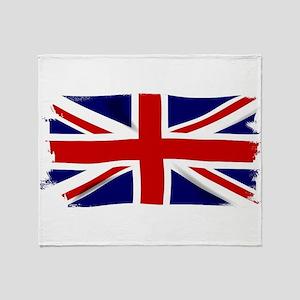 Union Jack Grunge Throw Blanket