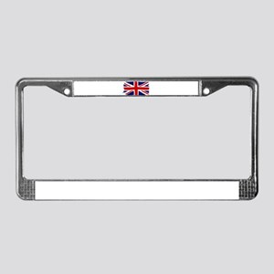 Union Jack Grunge License Plate Frame