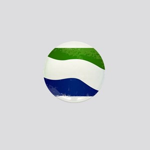 Sierra Leone Flag Grunge Mini Button