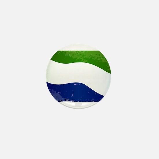 Sierra Leone Flag Grunge Mini Button
