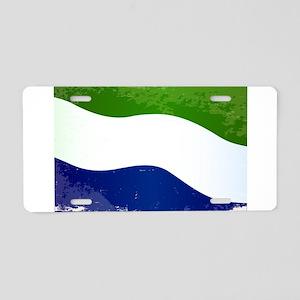 Sierra Leone Flag Grunge Aluminum License Plate
