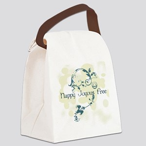 happy3 Canvas Lunch Bag