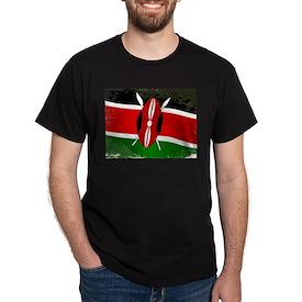 Kenya Flag Grunge T-Shirt
