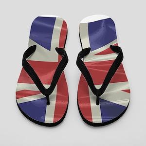 Silk Union Jack Flag Flip Flops