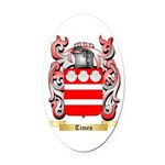 Times Oval Car Magnet