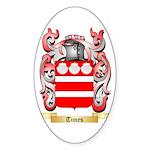 Times Sticker (Oval 50 pk)
