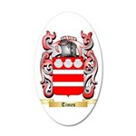 Times 20x12 Oval Wall Decal