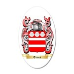 Times 35x21 Oval Wall Decal