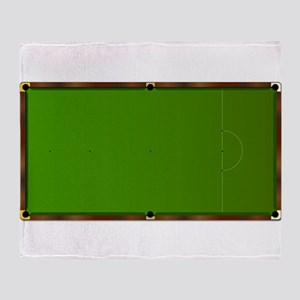 Snooker Table Markings Throw Blanket