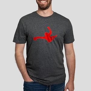 Red Soccer Goalie Silhouette T-Shirt