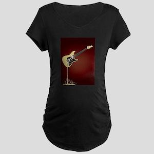 Fluid Guitar Maternity T-Shirt
