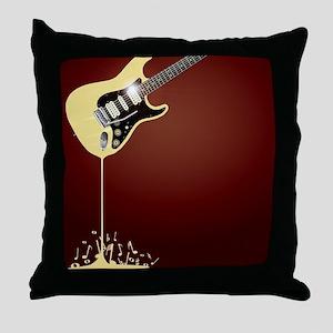 Fluid Guitar Throw Pillow
