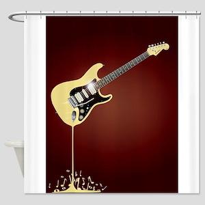 Fluid Guitar Shower Curtain
