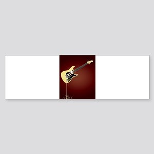 Fluid Guitar Bumper Sticker