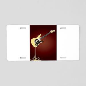 Fluid Guitar Aluminum License Plate