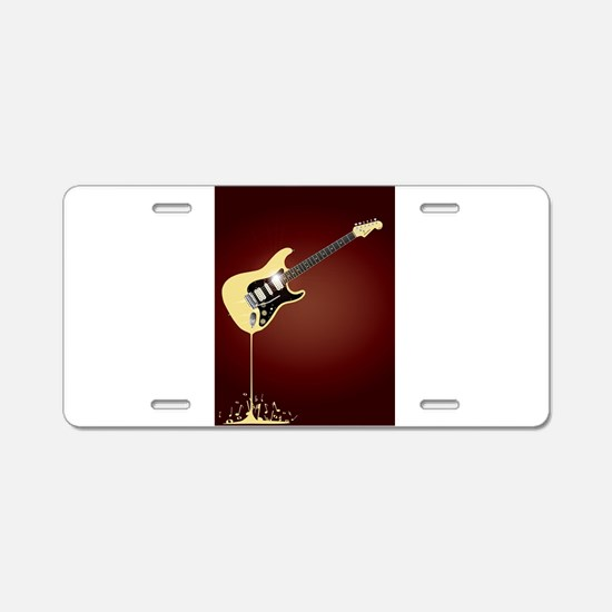 Fluid Guitar Aluminum License Plate