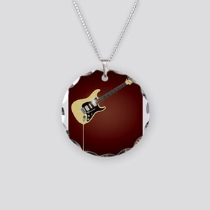 Fluid Guitar Necklace Circle Charm
