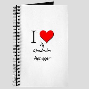 I Love My Wardrobe Manager Journal