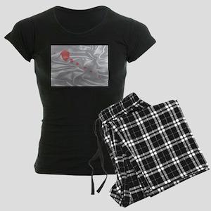 Valentine Silk Card Women's Dark Pajamas